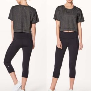 Lululemon Run The Day Short Sleeve Cropped Tee